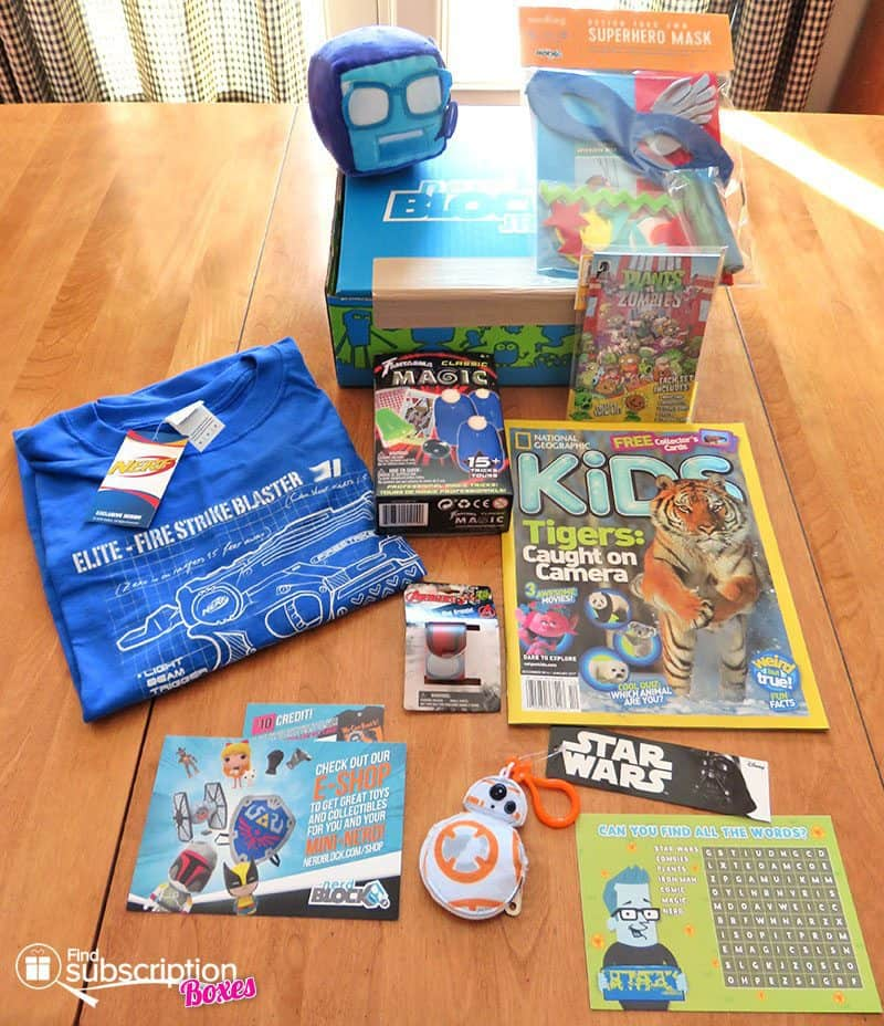 December 2016 Nerd Block Jr. for Boys Review - Box Contents