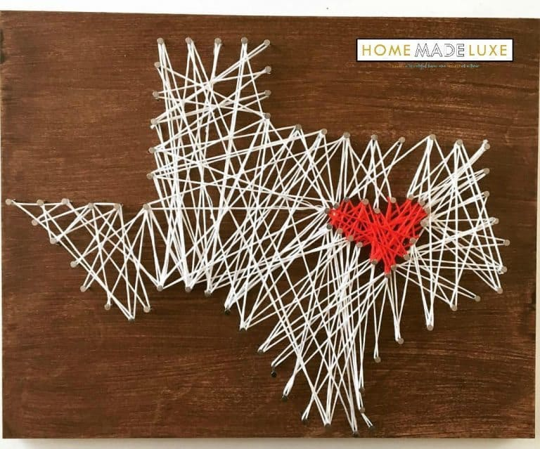 Home Made Luxe February 2017 Spoiler - State String Art Project