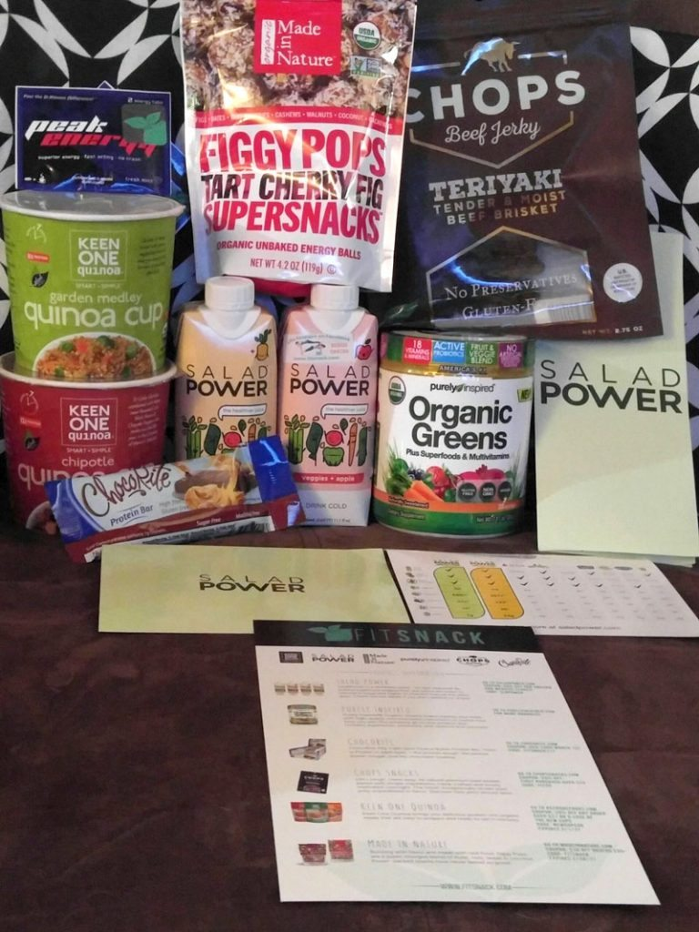 January 2017 Fit Snack Review - Box Contents