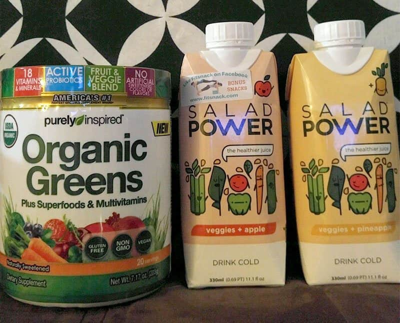 January 2017 Fit Snack Review - Organic Greens & Salad Power