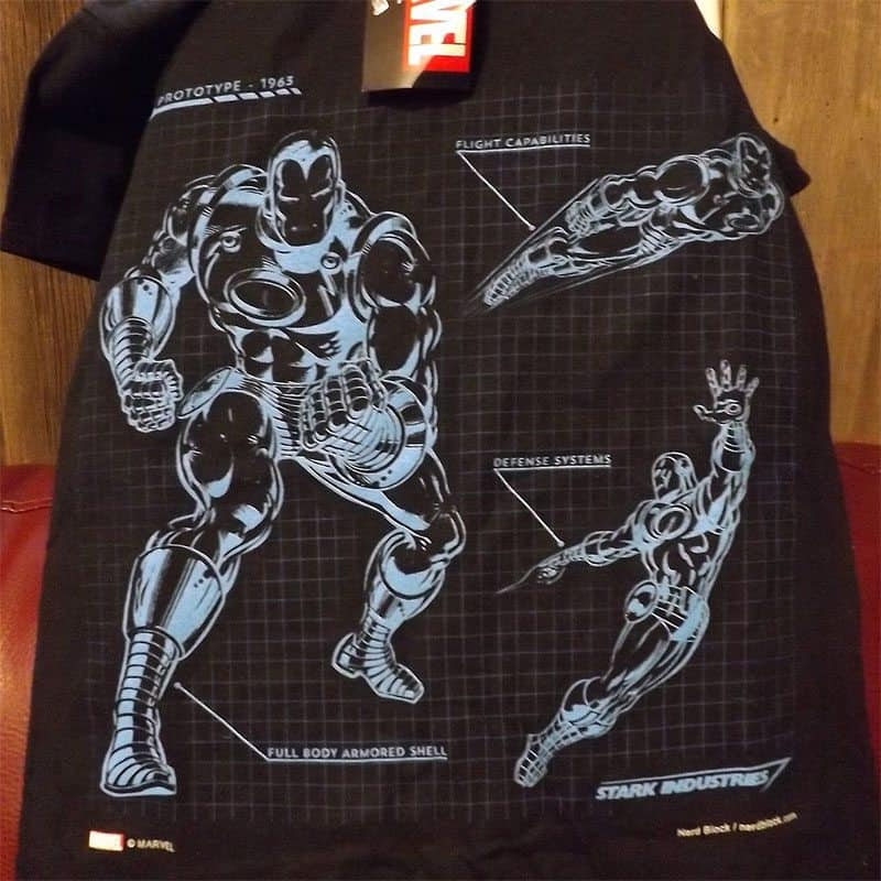 January 2017 Nerd Block Classic Review - Stark Industries - Ironman Shirt