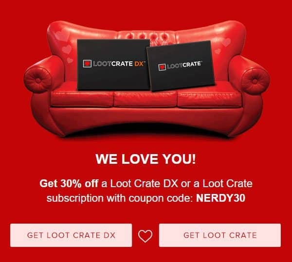 Save 30% Off Any Loot Crate or Loot Crate DX Subscription