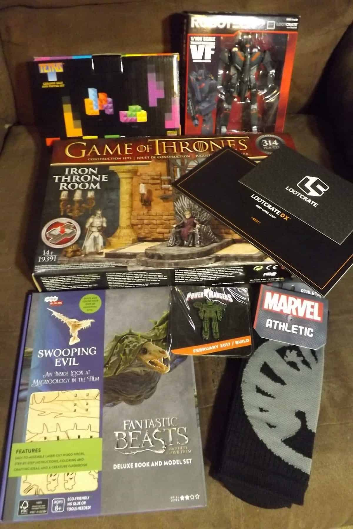 February 2017 Loot Crate DX Review - Box Contents