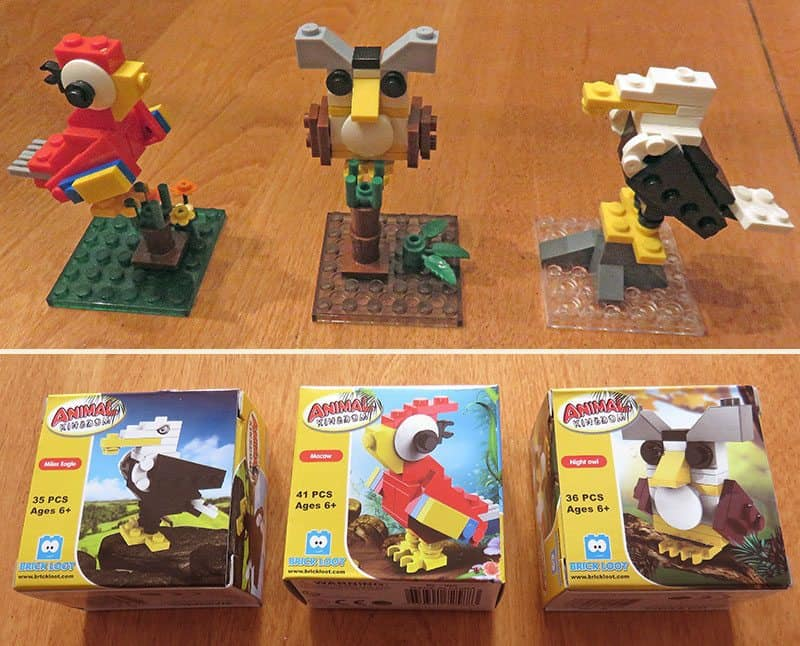 Brick Loot January 2017 Review - Brick Safari - Animal Kingdom Birds