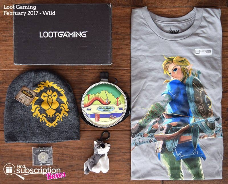 February 2017 Loot Gaming Review – Wild Crate - Box Contents