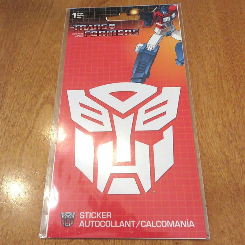 February 2017 Nerd Block Jr. for Boys Review - Transformers Decal