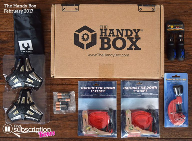 February 2017 The Handy Box Review - Box Contents