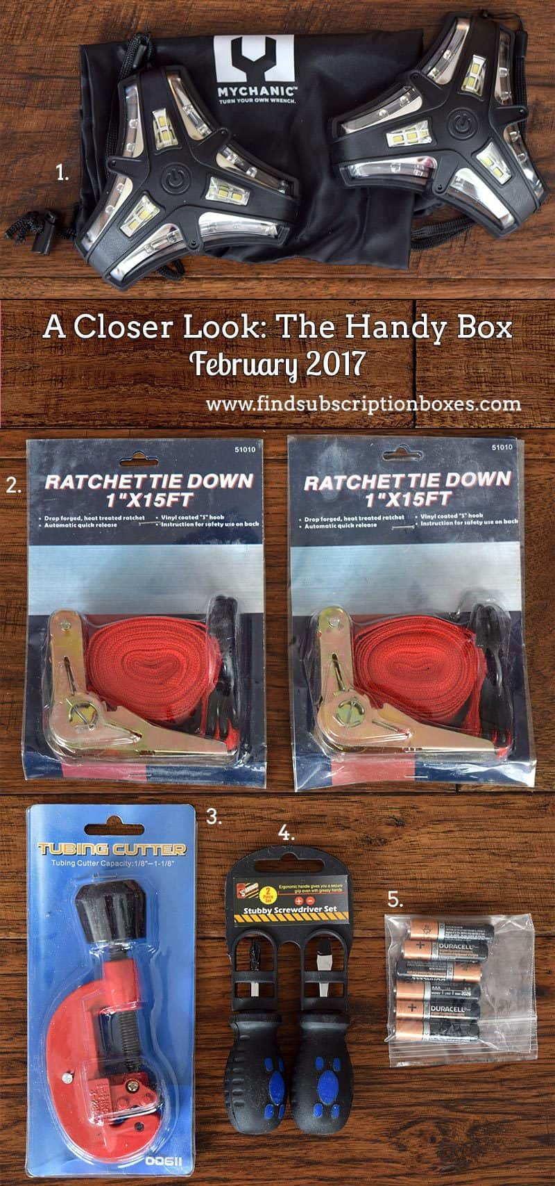 February 2017 The Handy Box Review - Inside the Box