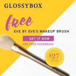 GLOSSYBOX March 2017 Free Gift - Eve's Makeup Brush