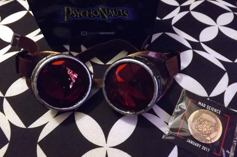 January 2017 Loot Gaming Review - Mad Science Crate - Psychonauts Goggles