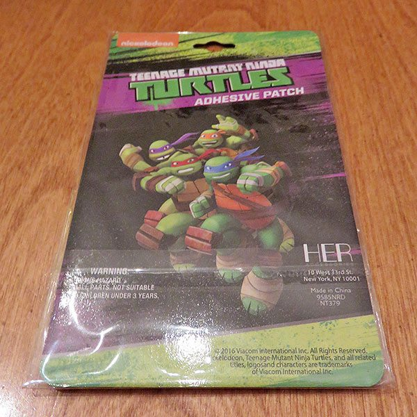 January 2017 Nerd Block Jr. for Boys Review - Teenage Mutant Ninja Turtles Patch
