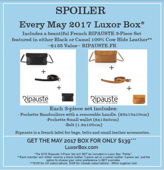 Luxor Box May 2017 Box Spoiler - RIPAUSTE Set