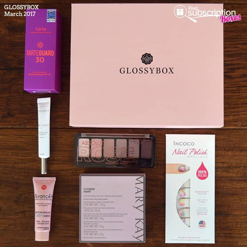 March 2017 GLOSSYBOX Review - Box Contents