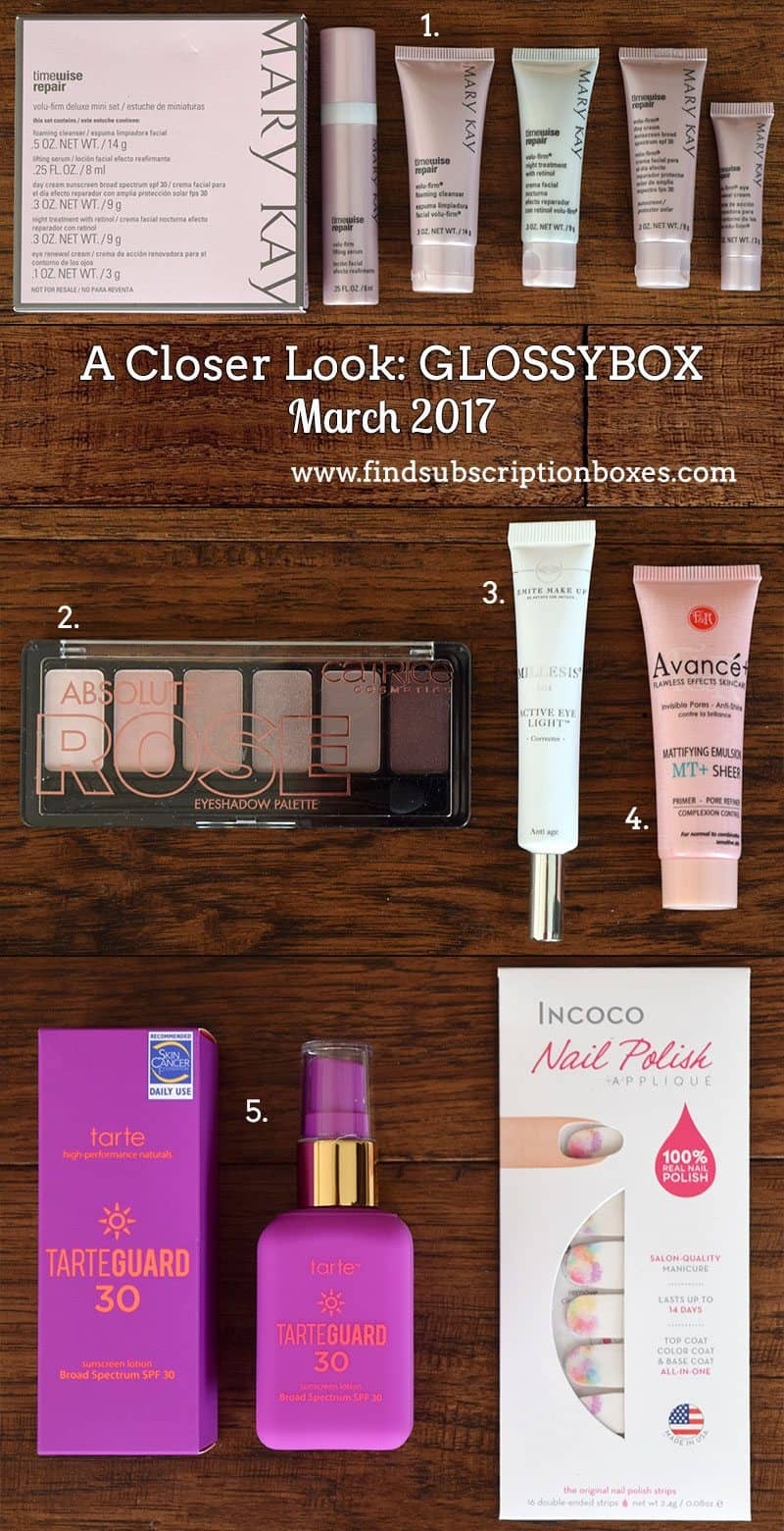 March 2017 GLOSSYBOX Review - Inside the Box