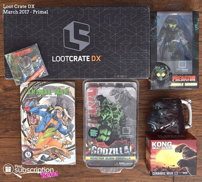 March 2017 Loot Crate DX Review - Primal - Box Contents