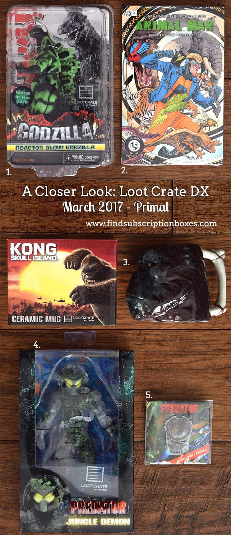 March 2017 Loot Crate DX Review - Primal - Inside the Box