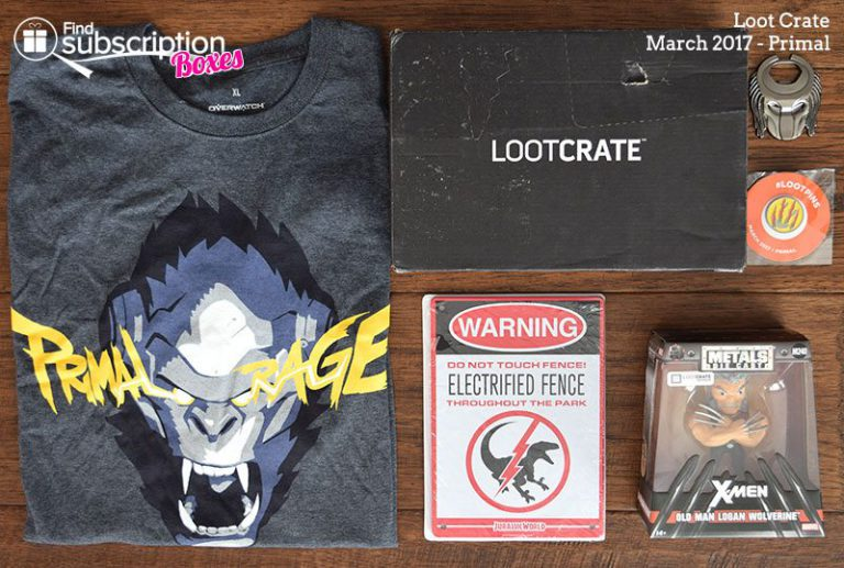 March 2017 Loot Crate Review - Primal Crate - Box Contents