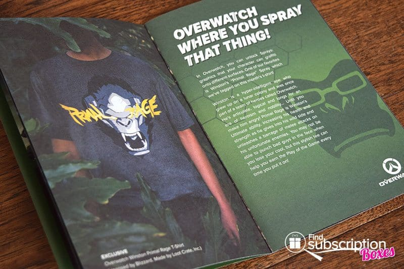 March 2017 Loot Crate Review - Primal Crate - Brochure