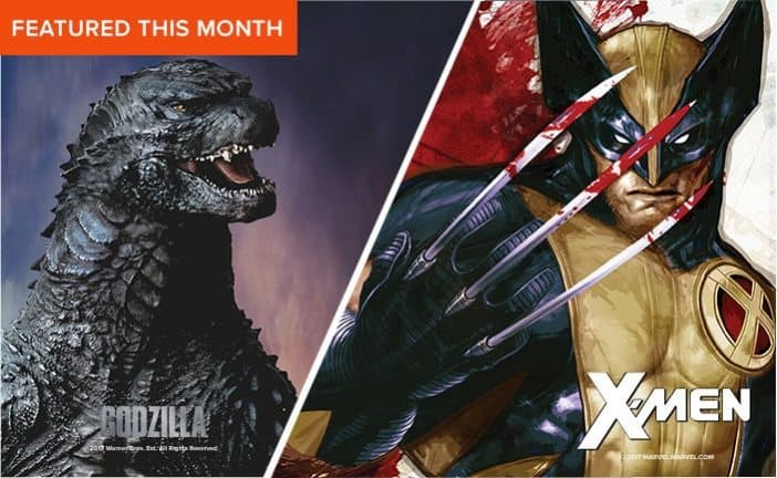 March 2017 Loot Socks Spoiler - Godzilla & Wolverine