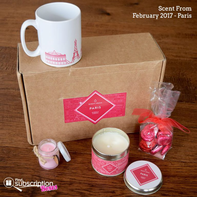 Scent From February 2017 Review – Paris - Box Contents