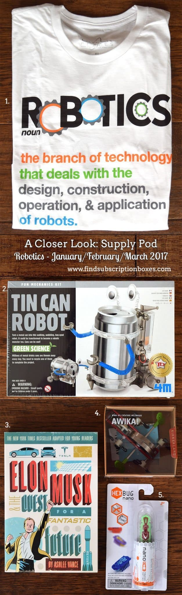 Winter 2017 Supply Pod Review - Robotics - Inside the Box