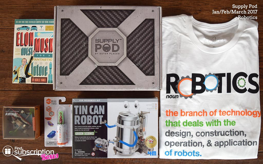 Winter 2017 Supply Pod Review - Robotics - Box Contents