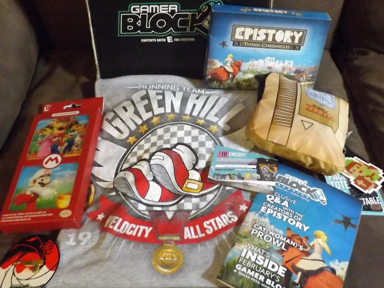 February 2017 Gamer Block - E for Everyone - Box Contents