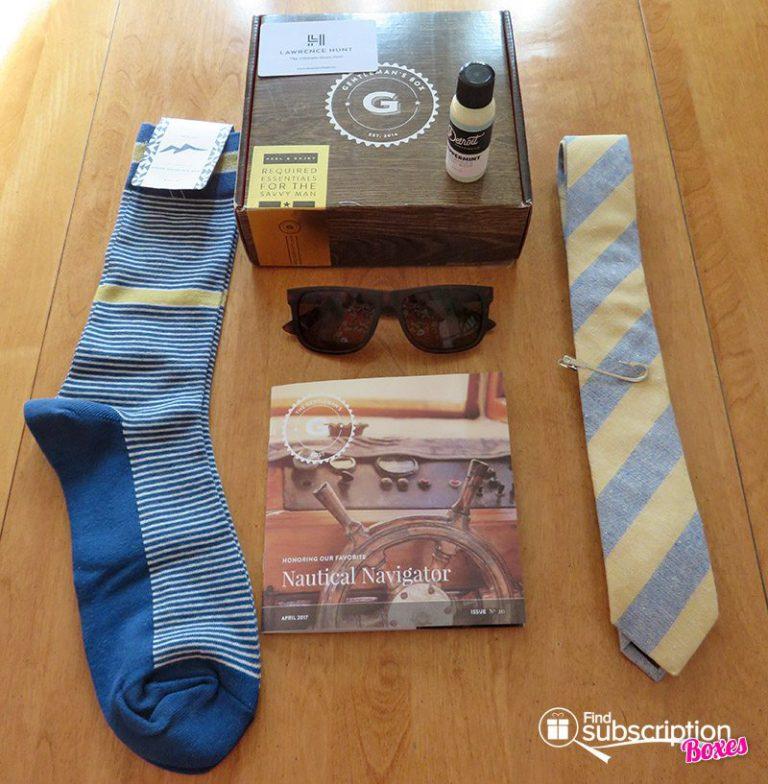 April 2017 Gentleman's Box Review - Box Contents