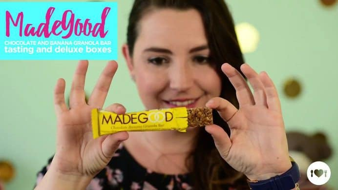 Love With Food May 2017 Box Spoiler - MadeGood Chocolate Banana Granola Bar