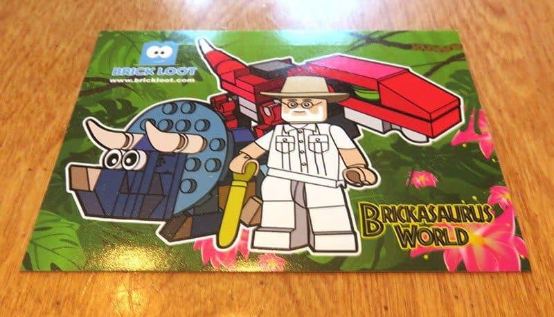March 2017 Brick Loot Review - Brickasaurus World - Sticker
