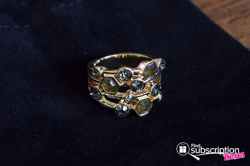 May 2017 Cate & Chloe VIP Box Review - Unconditional Love - Aubrey Gold Stacked Jewel Ring