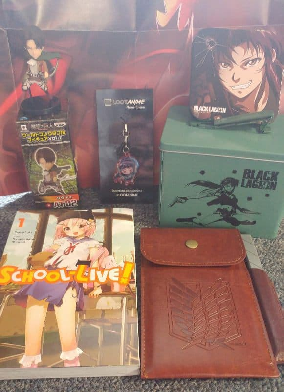April 2017 Loot Anime Review - HUMANITY - Box Contents