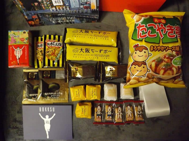 April 2017 Bokksu Review - Gluttonous Osaka - Box Contents