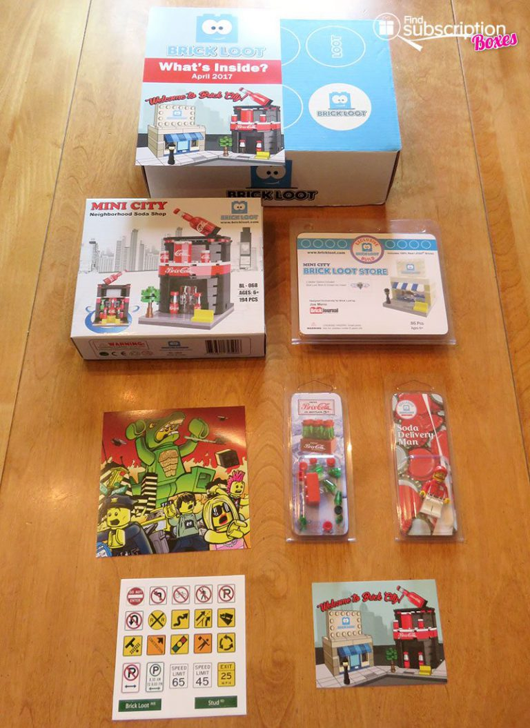 April 2017 Brick Loot Review: Welcome to Brick City - Box Contents