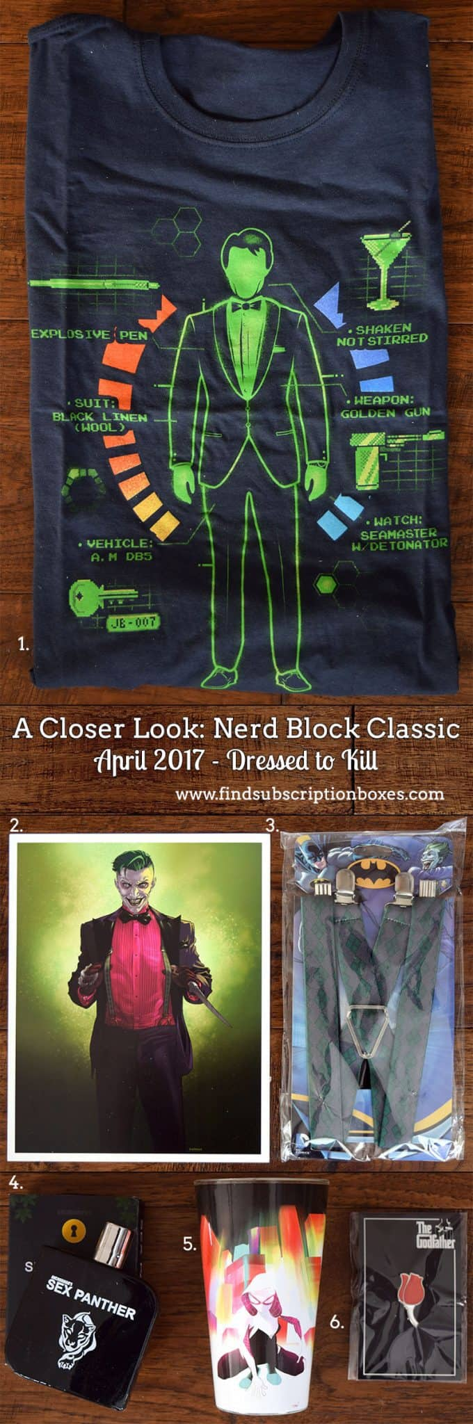 April 2017 Nerd Block Classic Review - Dressed to Kill - Inside the Box
