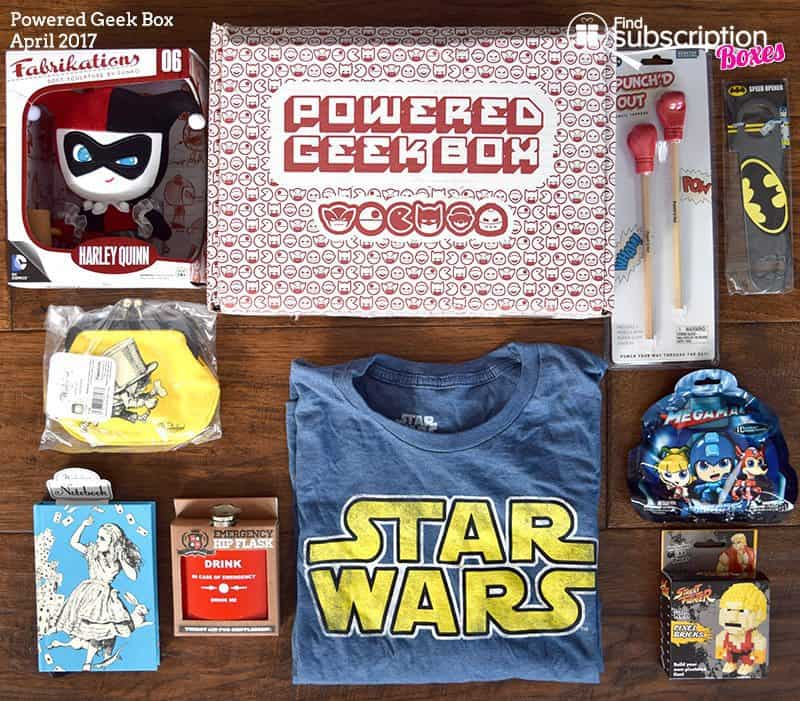 April 2017 Powered Geek Box Review - Box Contents