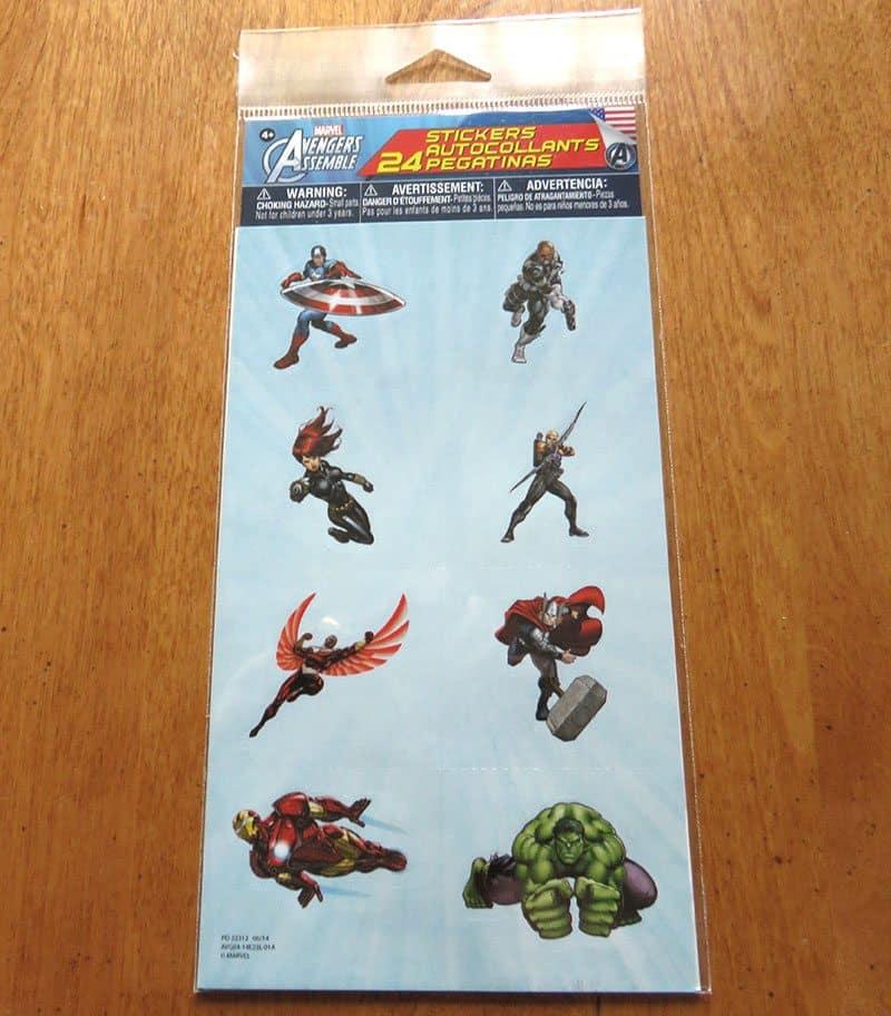 April 2017 Nerd Block Jr. for Boys Review - Avengers Stickers