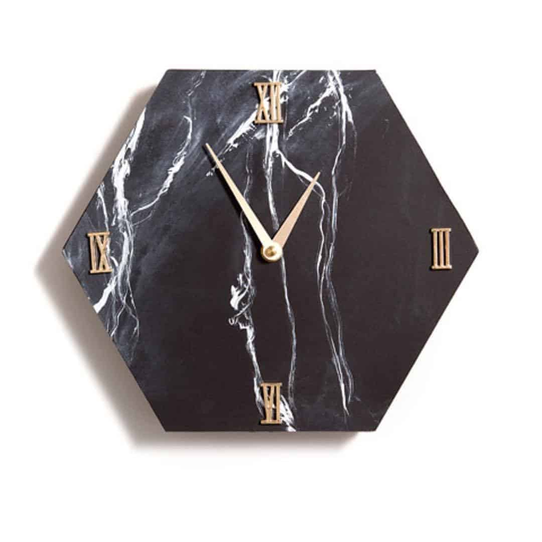 Home Made Luxe June 2017 Box Spoiler - DIY Marbled Hexagon Clock