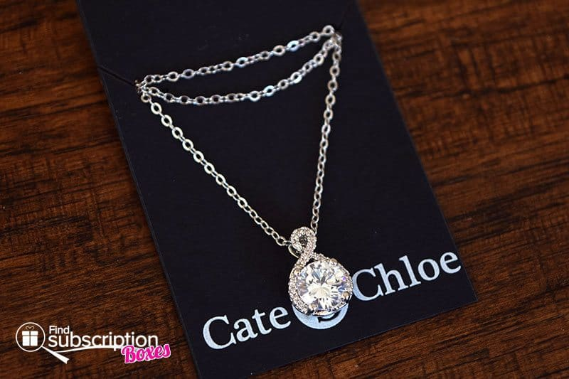 "June 2017 Cate & Chloe VIP Box - Alessandra ""Vision"" 18k White Gold Plated Pendant Necklace"