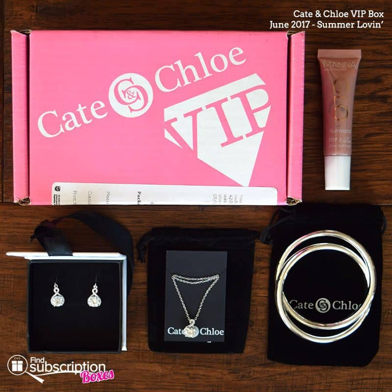 June 2017 Cate & Chloe VIP Box Review - Box Contents