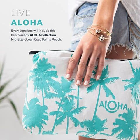 June 2017 POPSUGAR Must Have Box Spoiler - ALOHA Collection Mid-Size Ocean Coco Palms Pouch.