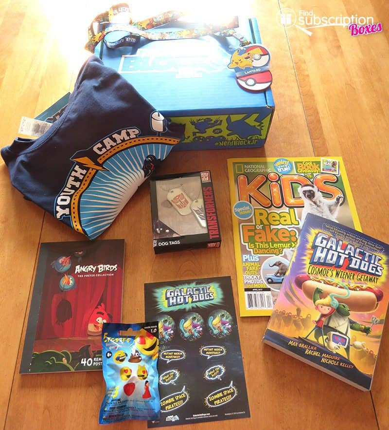 March 2017 Nerd Block Jr. for Boys Review - Box Contents