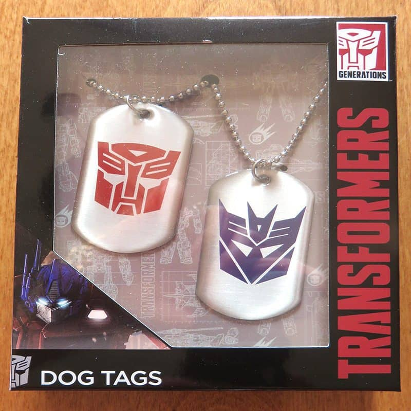 March 2017 Nerd Block Jr. for Boys Review - Transformers Dog Tags