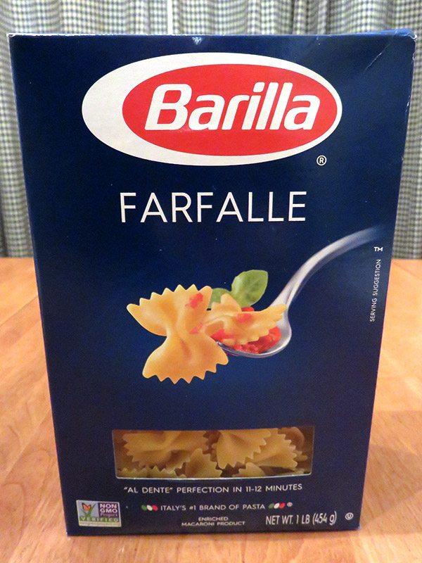 May 2017 Degustabox Review - Barilla Farfalle