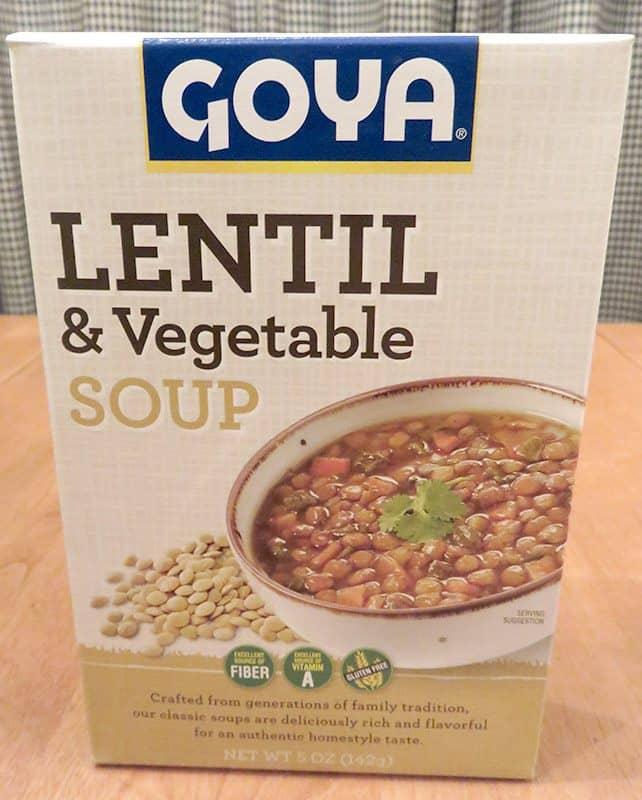 May 2017 Degustabox Review - Goya Lentil & Vegetable Soup