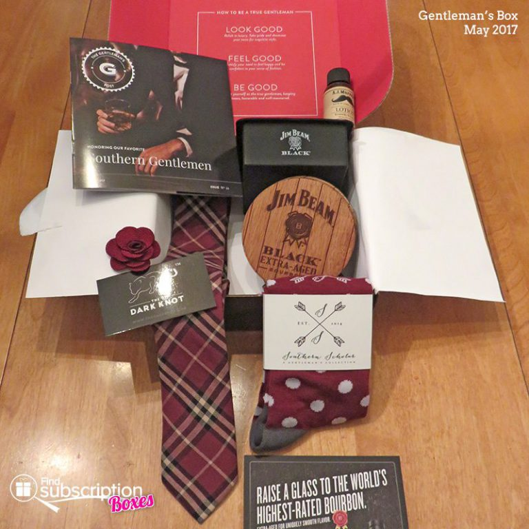 May 2017 Gentleman's Box Review - Box Contents