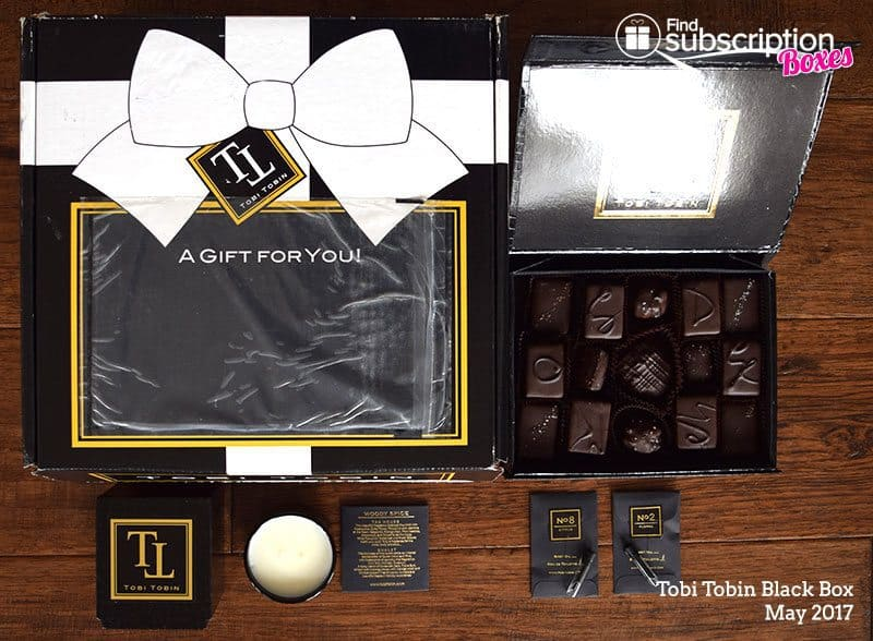 May 2017 Tobi Tobin Black Box Review - Box Contents