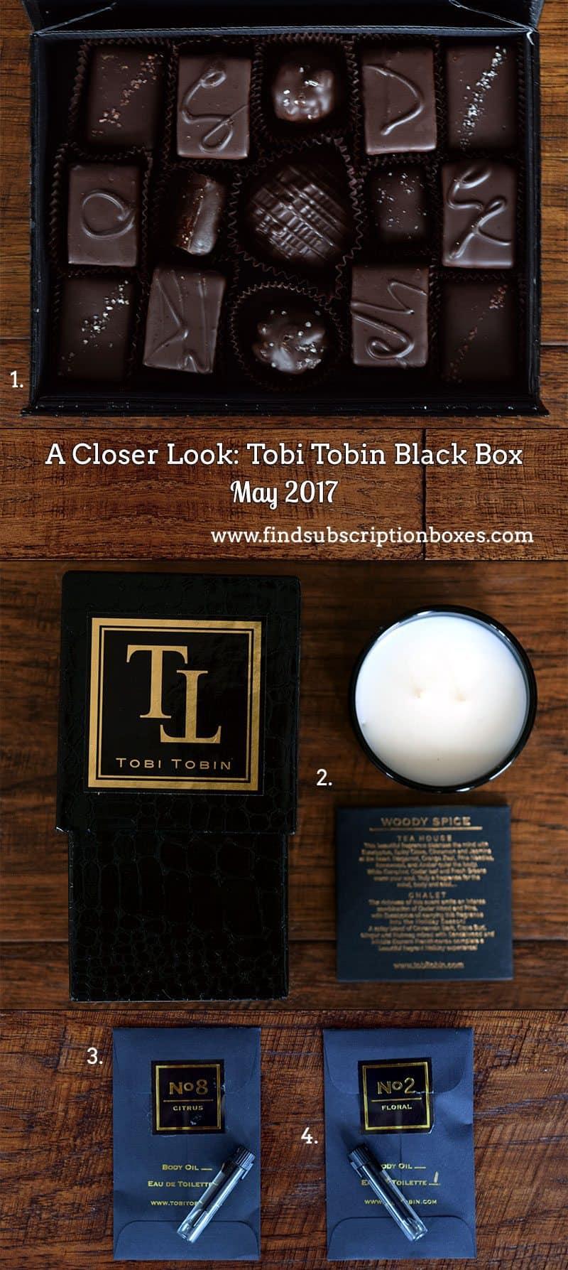 May 2017 Tobi Tobin Black Box Review - Inside the Box