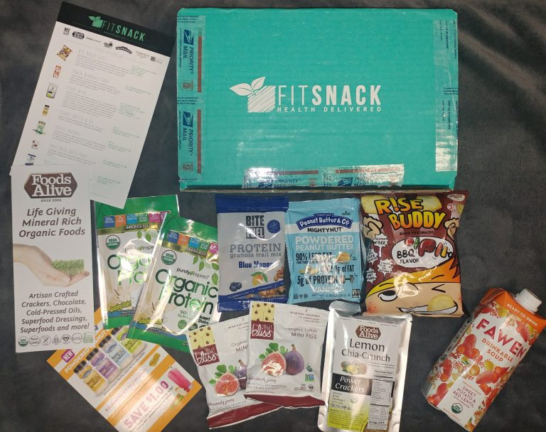 May 2017 Fit Snack Review - Box Contents