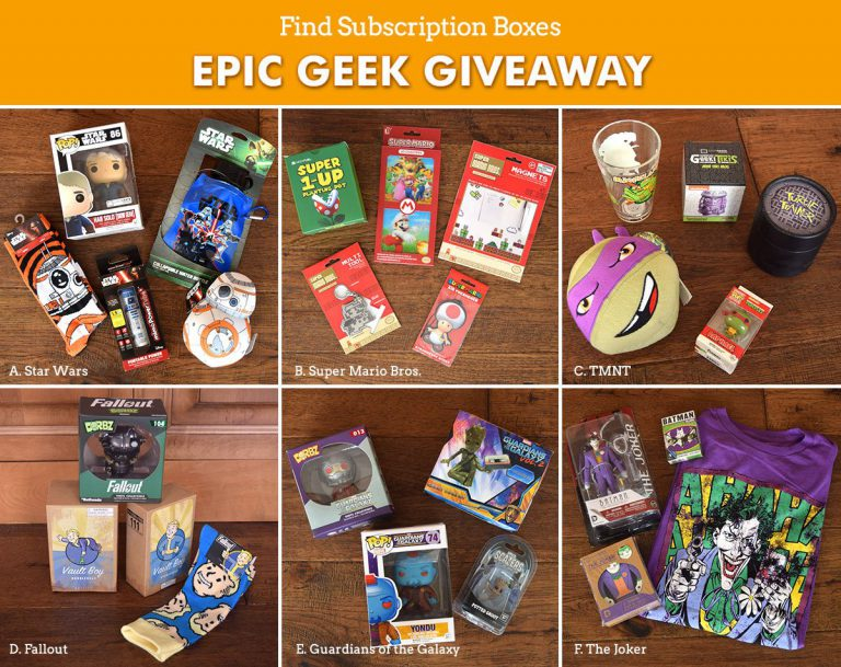 Find Subscription Boxes Epic Geek Giveaway